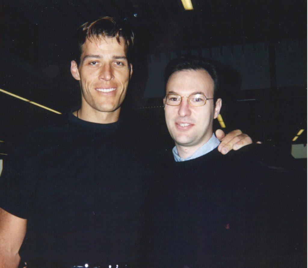 1995 – Londra con Anthony Robbins